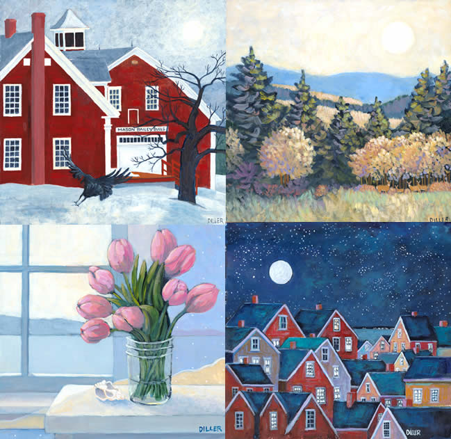 Art Calendar Maine : Claudia diller original maine art calendar inspired by